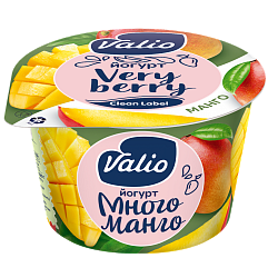 Йогурт Valio с манго Clean Label®, 2.6 %, 180 г